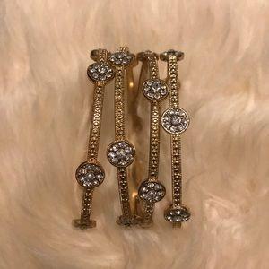 Gold Stacking Bracelets - Set of 4